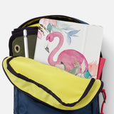 iPad SeeThru Casd with Flamingo Design has Secure closure