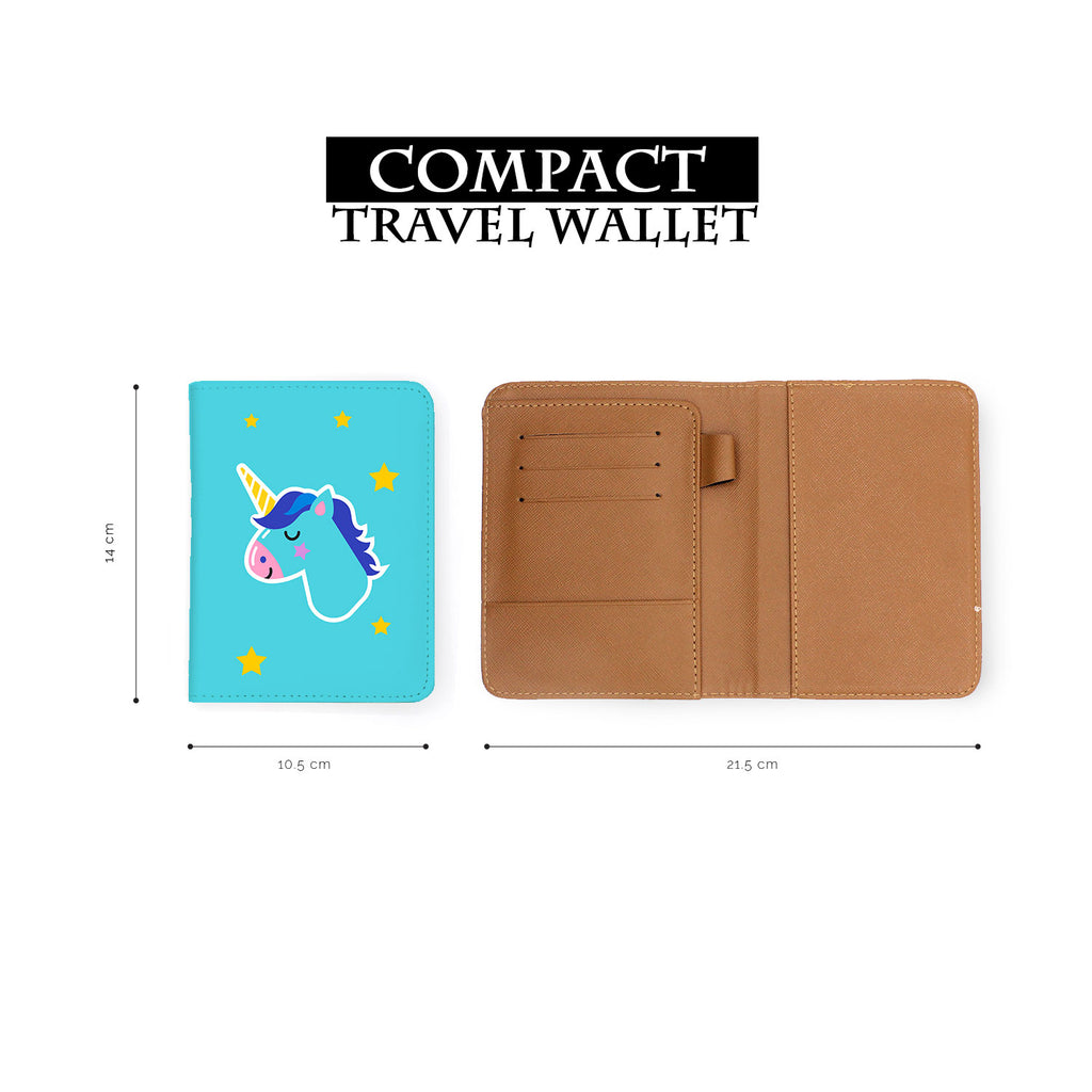 compact size of personalized RFID blocking passport travel wallet with Pop Art design