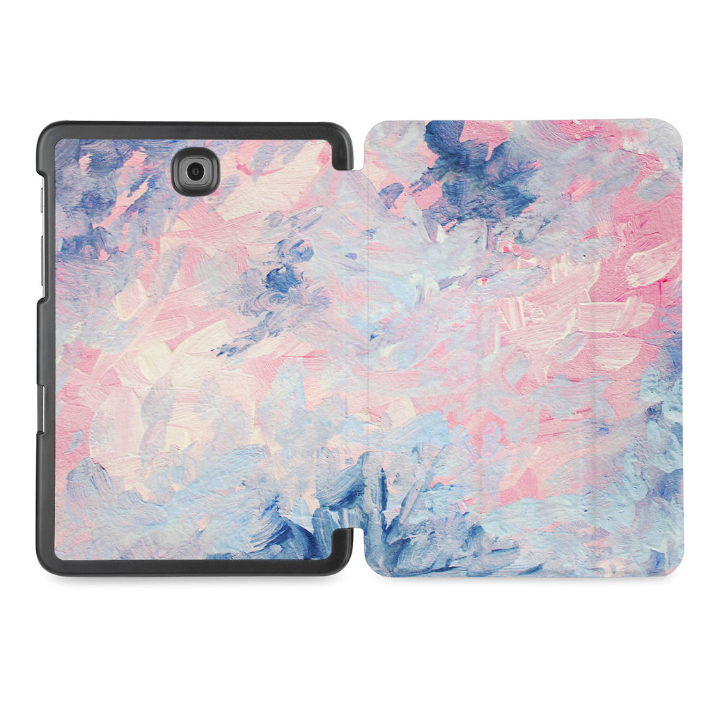 the whole printed area of Personalized Samsung Galaxy Tab Case with Oil Painting Abstract design