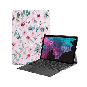 the Hero Image of Personalized Microsoft Surface Pro and Go Case with Flat Flower 2 design