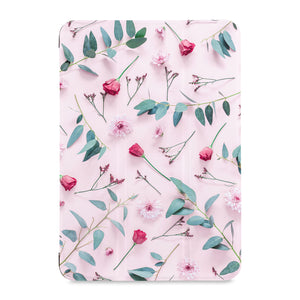 the front view of Personalized Samsung Galaxy Tab Case with Flat Flower 2 design