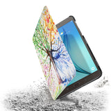 the drop protection feature of Personalized Samsung Galaxy Tab Case with Watercolor Flower design