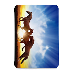 the front view of Personalized Samsung Galaxy Tab Case with Horse design