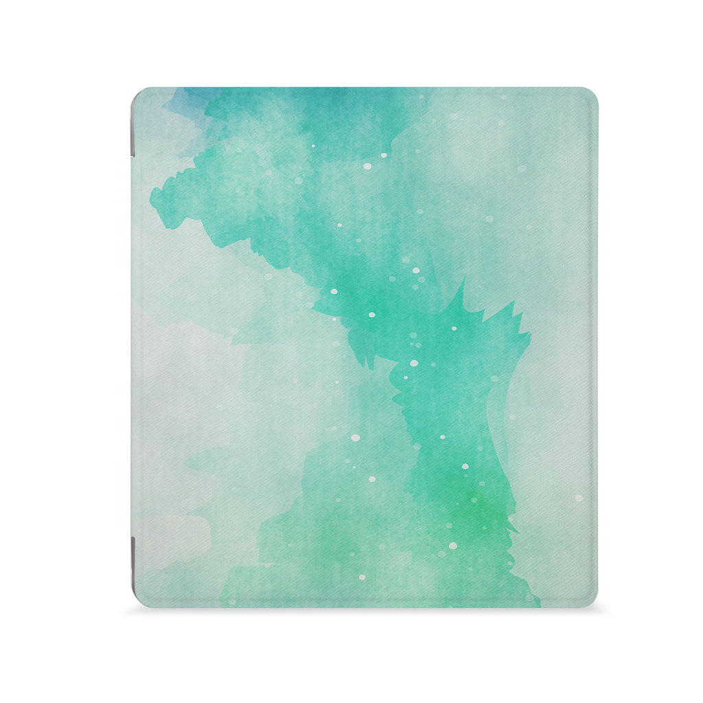 the Front View of Personalized Kindle Oasis Case with Abstract Watercolor Splash design - swap