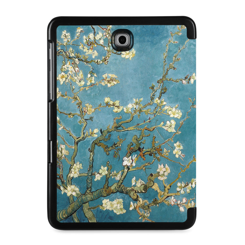 the back view of Personalized Samsung Galaxy Tab Case with Oil Painting design