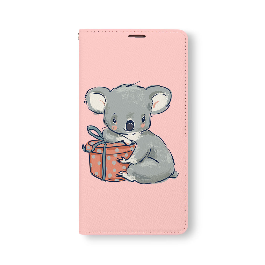 Front Side of Personalized Samsung Galaxy Wallet Case with KoalaAndFriendsTang design