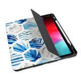 personalized iPad case with pencil holder and Geometric Flower design - swap