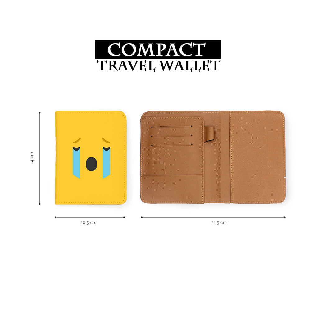compact size of personalized RFID blocking passport travel wallet with Emoji 2 design