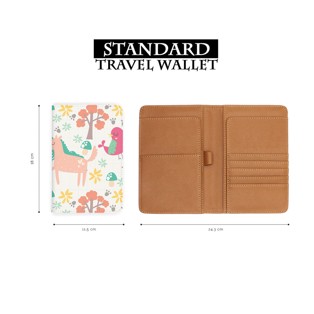 standard size of personalized RFID blocking passport travel wallet with Animals 3 design