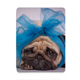 front view of personalized iPad case with pencil holder and Ugly Dog design