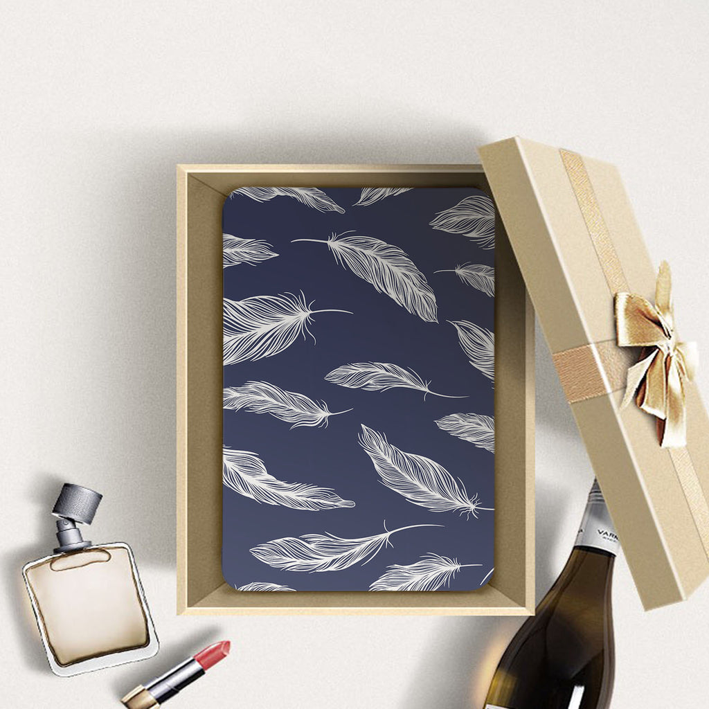 Personalized Samsung Galaxy Tab Case with Feather design in a gift box