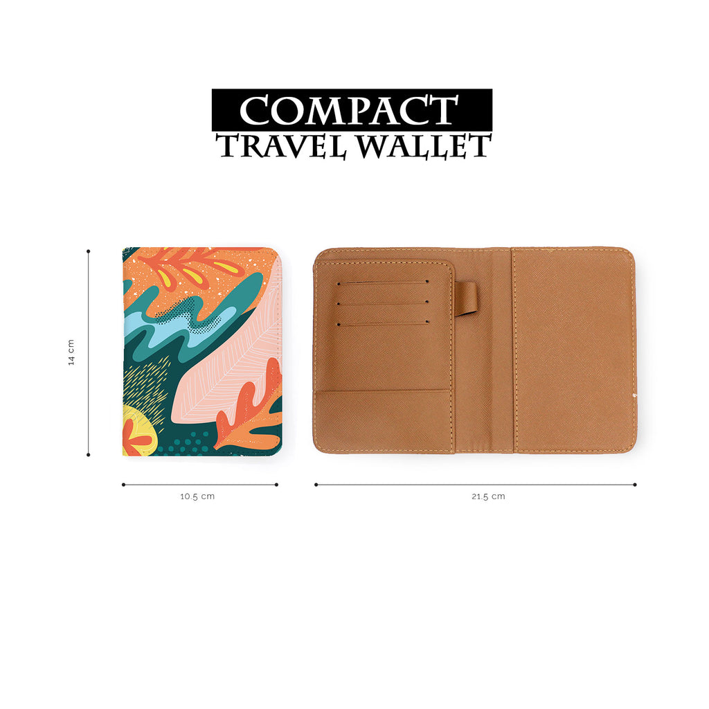compact size of personalized RFID blocking passport travel wallet with Collage Patterns design