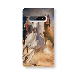 Back Side of Personalized Samsung Galaxy Wallet Case with Horse design - swap