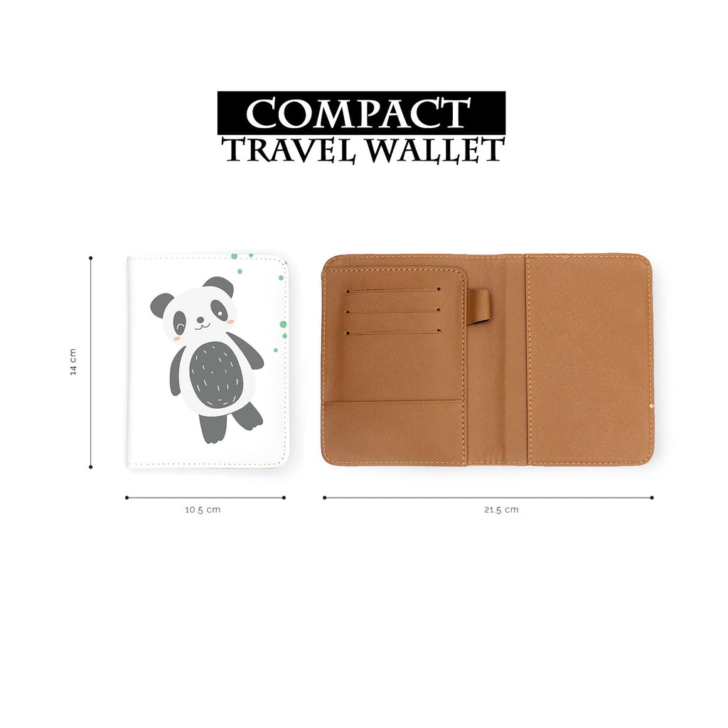 compact size of personalized RFID blocking passport travel wallet with Cute Animals design