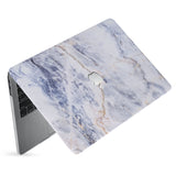 hardshell case with Marble design has matte finish resists scratches