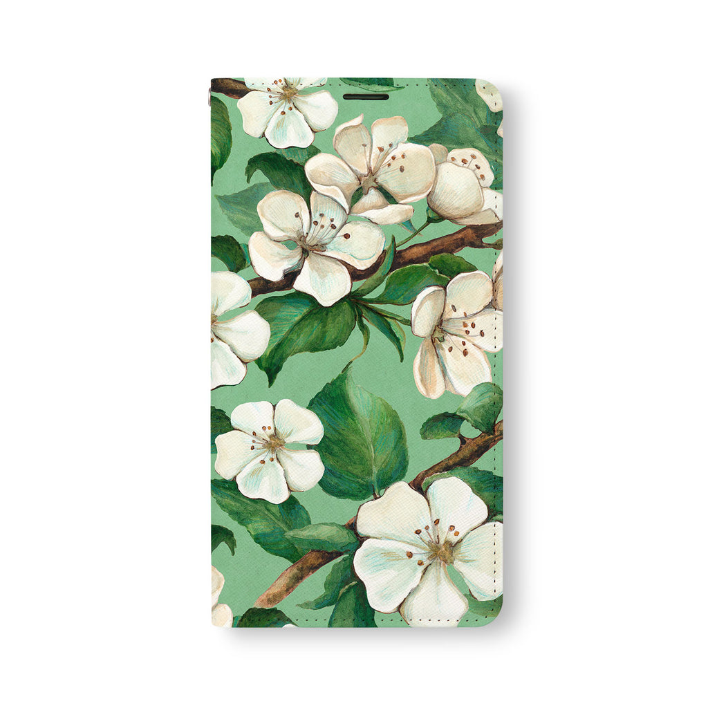 Front Side of Personalized Samsung Galaxy Wallet Case with Flower design