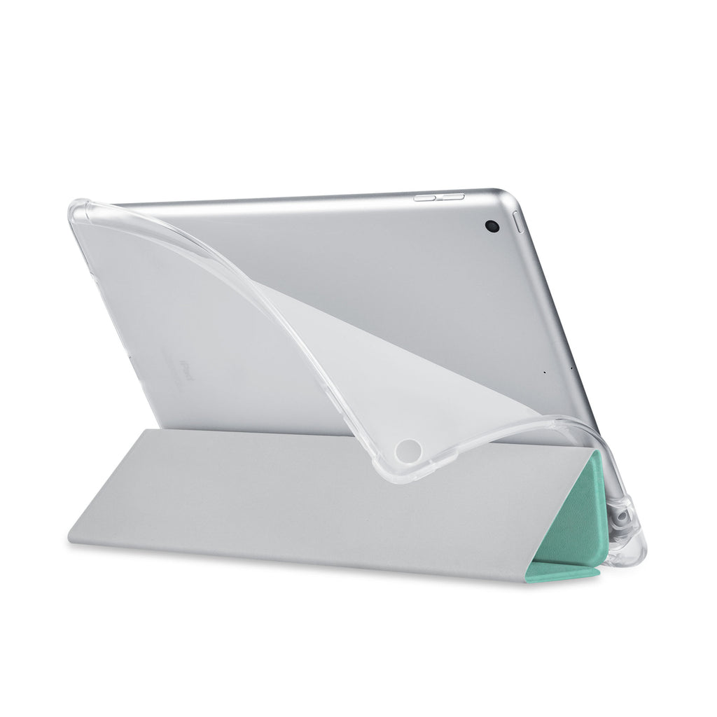 Balance iPad SeeThru Casd with Rusted Metal Design has a soft edge-to-edge liner that guards your iPad against scratches.