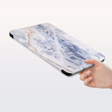 a hand is holding the Personalized Samsung Galaxy Tab Case with Marble design