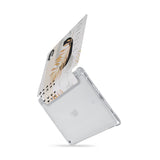 iPad SeeThru Casd with Marble Flower Design  Drop-tested by 3rd party labs to ensure 4-feet drop protection