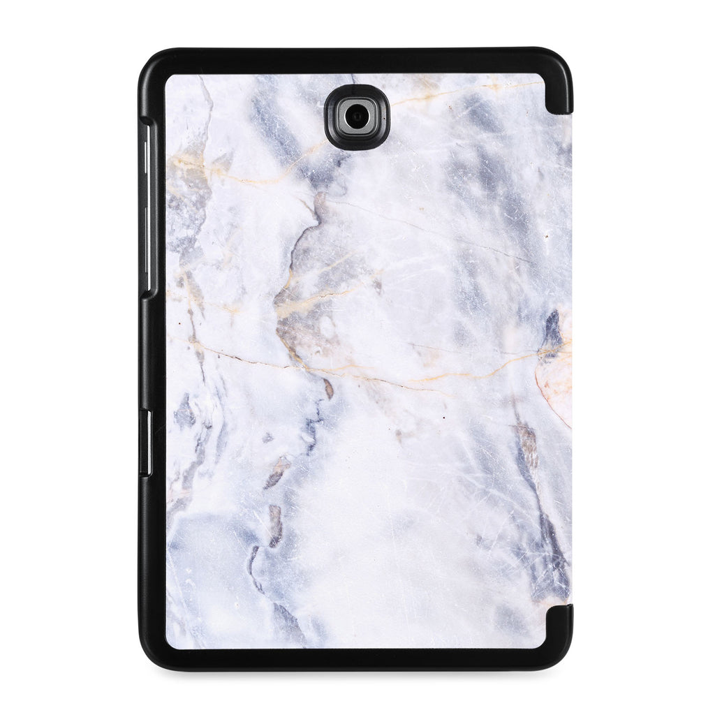 the back view of Personalized Samsung Galaxy Tab Case with Marble design