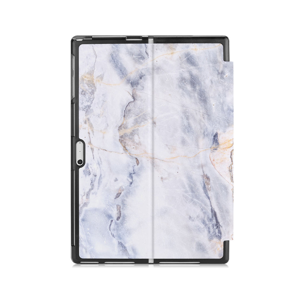 the back side of Personalized Microsoft Surface Pro and Go Case with Marble design