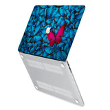 hardshell case with Butterfly design has rubberized feet that keeps your MacBook from sliding on smooth surfaces