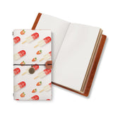 opened midori style traveler's notebook with Sweet design