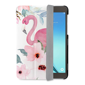 auto on off function of Personalized Samsung Galaxy Tab Case with Flamingo design - swap