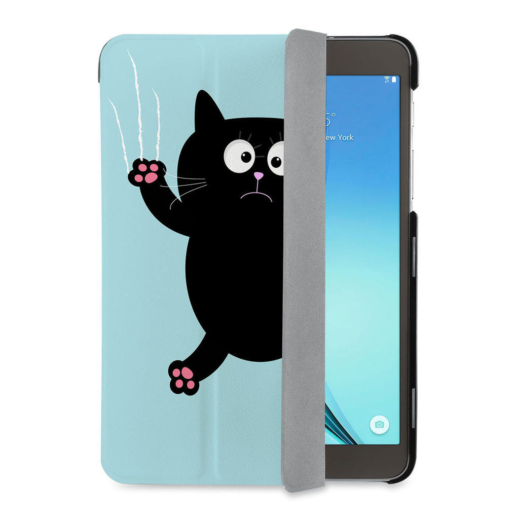 auto on off function of Personalized Samsung Galaxy Tab Case with Cat Kitty design - swap