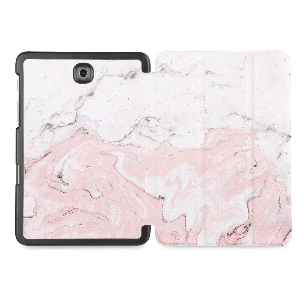 the whole printed area of Personalized Samsung Galaxy Tab Case with Pink Marble design