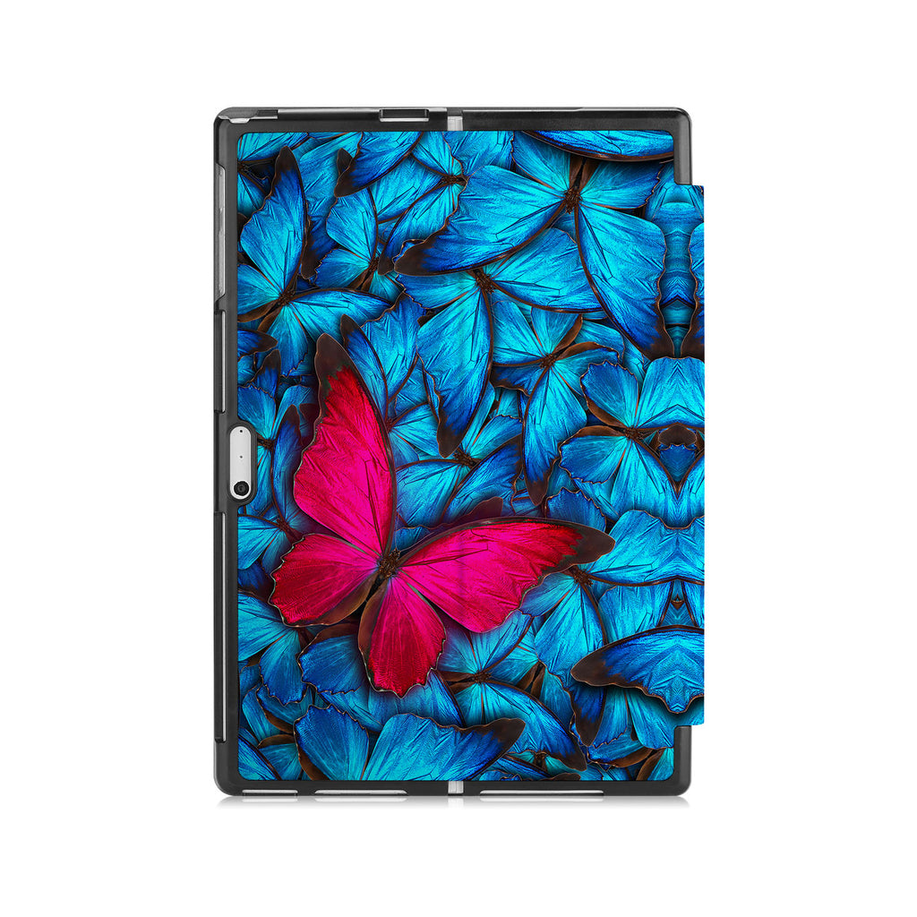the back side of Personalized Microsoft Surface Pro and Go Case with Butterfly design