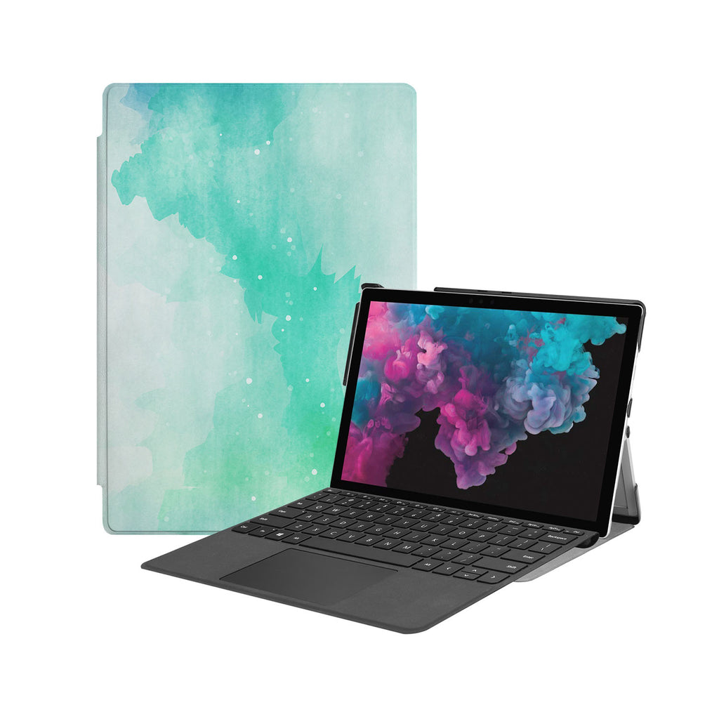 the Hero Image of Personalized Microsoft Surface Pro and Go Case with Abstract Watercolor Splash design