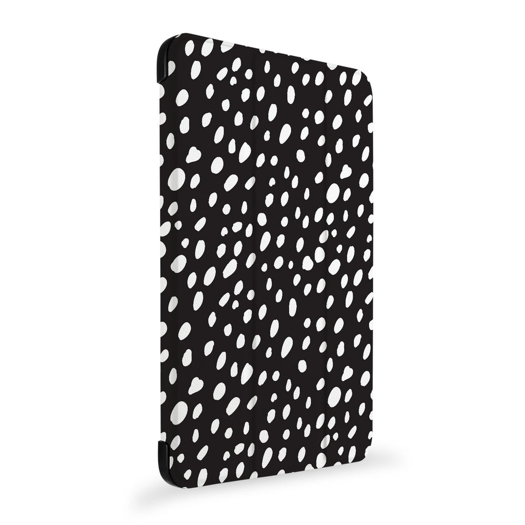 the side view of Personalized Samsung Galaxy Tab Case with Polka Dot design