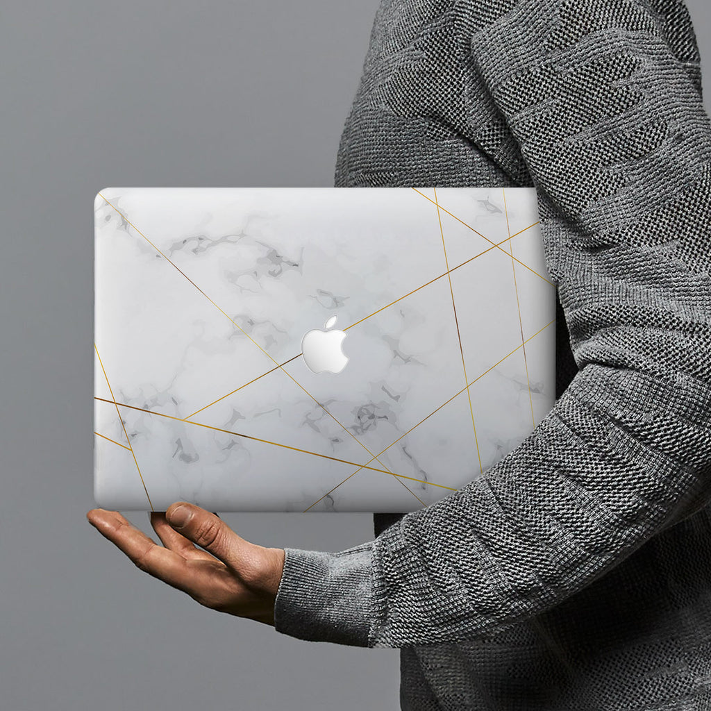 hardshell case with Marble 2020 design combines a sleek hardshell design with vibrant colors for stylish protection against scratches, dents, and bumps for your Macbook