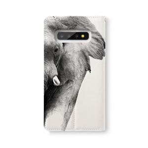 Back Side of Personalized Samsung Galaxy Wallet Case with Elephant design - swap