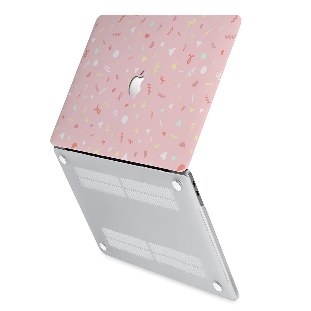 hardshell case with Baby design has rubberized feet that keeps your MacBook from sliding on smooth surfaces