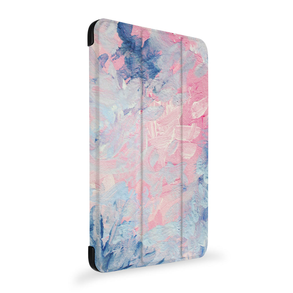the side view of Personalized Samsung Galaxy Tab Case with Oil Painting Abstract design
