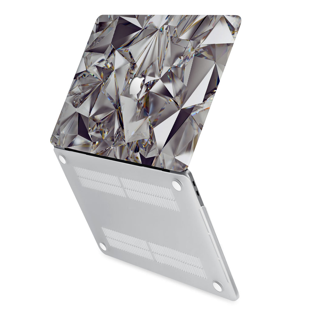 hardshell case with Crystal Diamond design has rubberized feet that keeps your MacBook from sliding on smooth surfaces