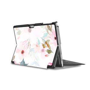 the back side of Personalized Microsoft Surface Pro and Go Case in Movie Stand View with Flamingo design - swap