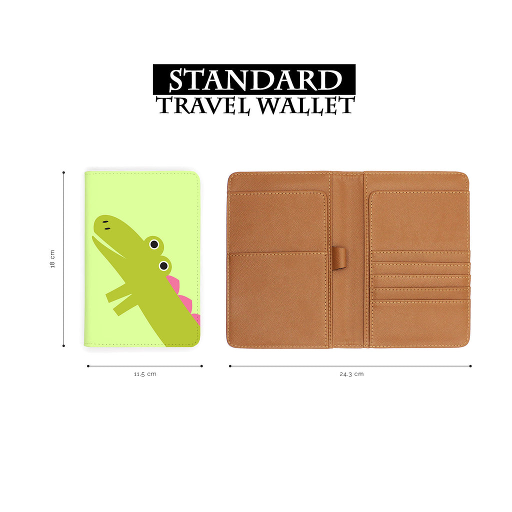 standard size of personalized RFID blocking passport travel wallet with Baby Girl design