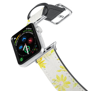 Printed Leather Apple Watch Band with Music Script design. Designed for Apple Watch Series 4,Works with all previous versions of Apple Watch.