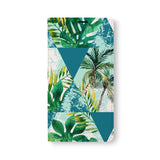 Front Side of Personalized Samsung Galaxy Wallet Case with GeometricFlower design