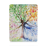 front view of personalized iPad case with pencil holder and Tree design