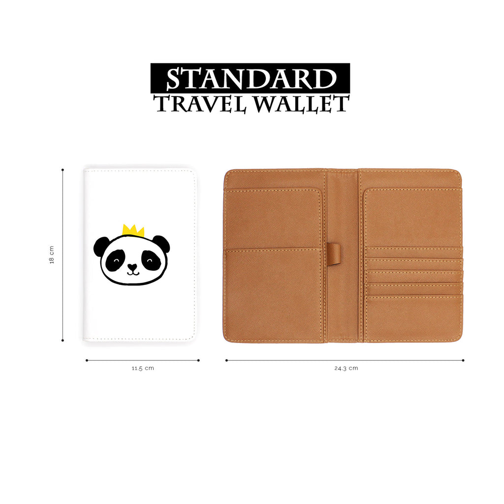 standard size of personalized RFID blocking passport travel wallet with Doodle design