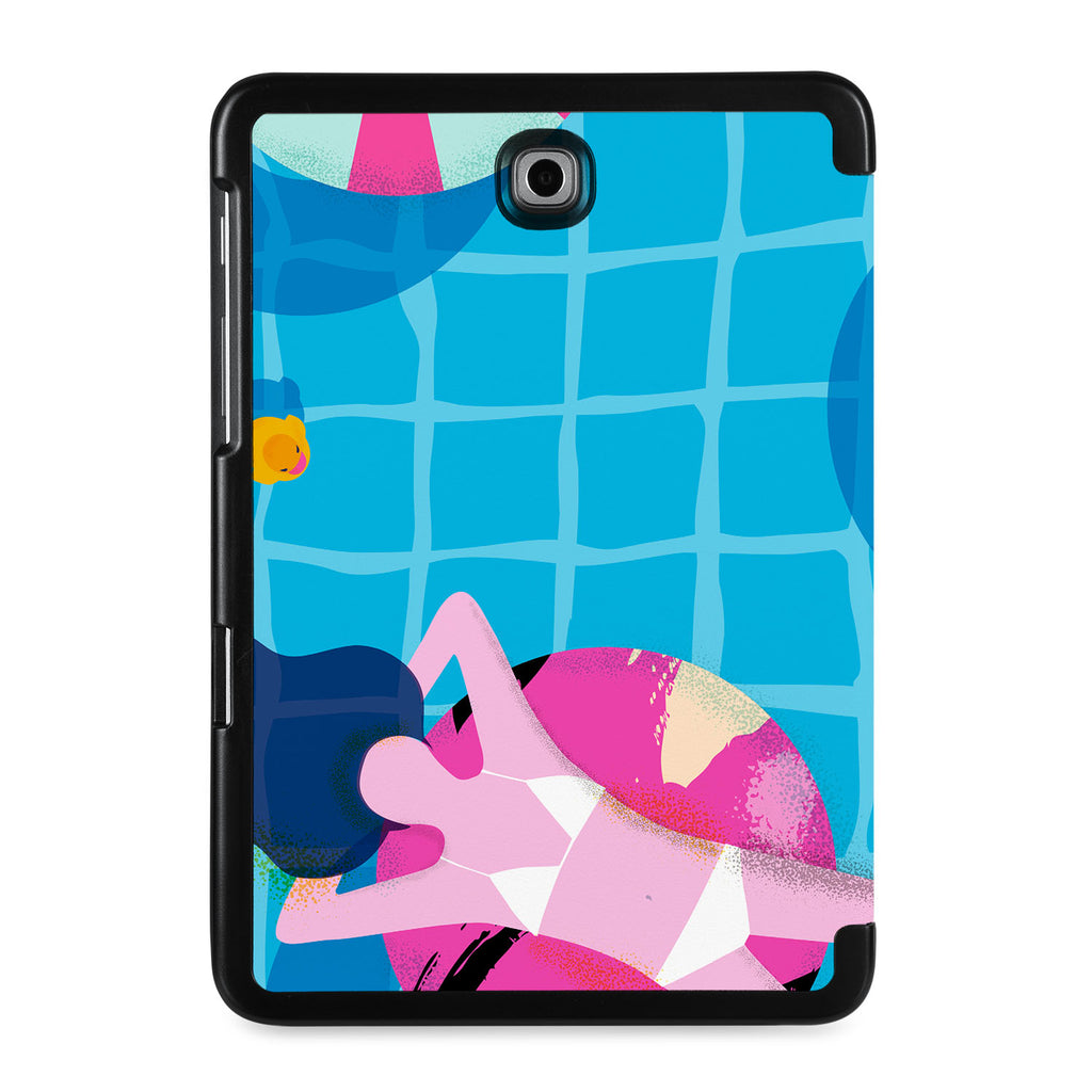 the back view of Personalized Samsung Galaxy Tab Case with Beach design