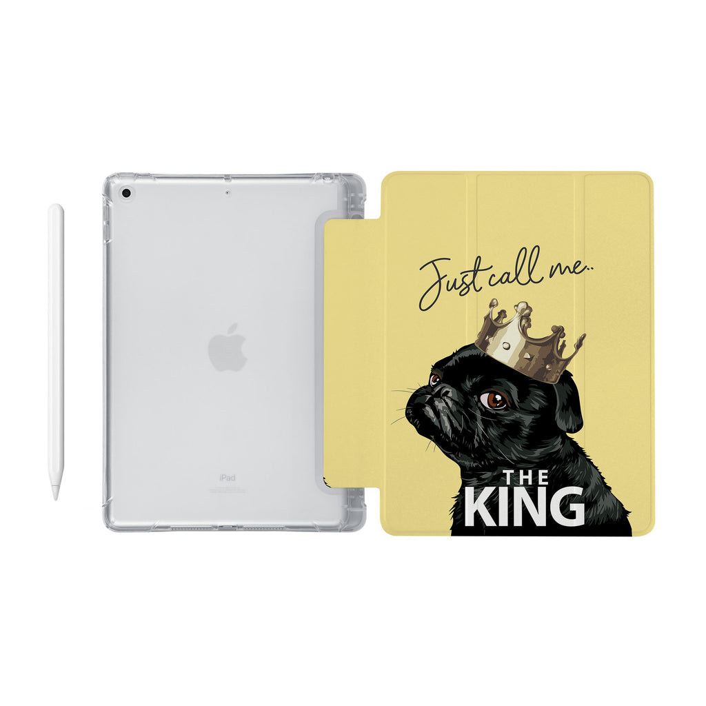 iPad SeeThru Casd with Dog Fun Design Fully compatible with the Apple Pencil