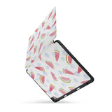 personalized iPad case with pencil holder and Fruit design