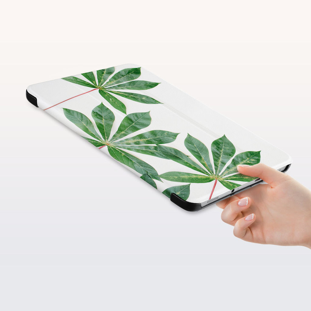 a hand is holding the Personalized Samsung Galaxy Tab Case with Flat Flower design