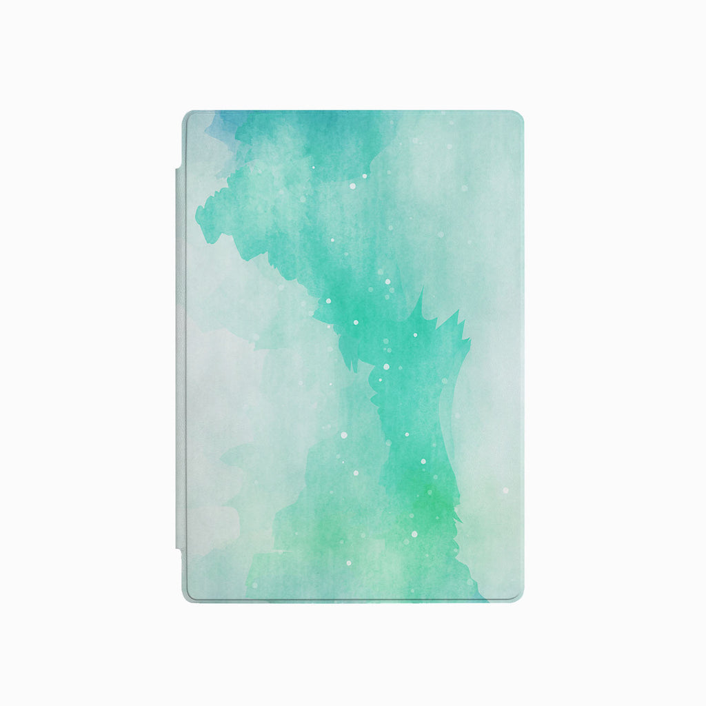 the front side of Personalized Microsoft Surface Pro and Go Case with Abstract Watercolor Splash design
