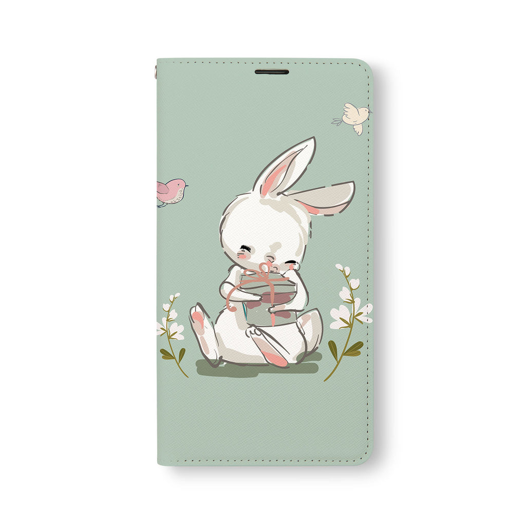 Front Side of Personalized Samsung Galaxy Wallet Case with Bunny2Tang design